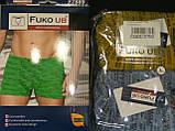 Трусы шорты боксеры Fuko Ub 7889  комплект 2шт XL синий серый, фото 2