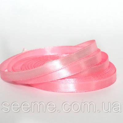 Лента атласная, 6 мм, цвет розовый