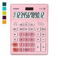 Калькулятор настіл. Casio GR-12C-PK-W-EP, 12 розр. велики дисплей, рожевий