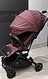 Легкая прогулочная коляска книжка Carrello Presto с дождевиком Indigo Purple, фото 4