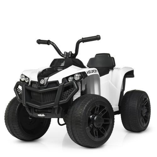 Современный детский квадроцикл Bambi M 4229EBR-1 белый на аккумуляторе