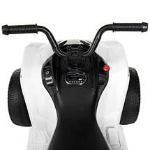 Современный детский квадроцикл Bambi M 4229EBR-1 белый на аккумуляторе, фото 2