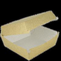 Упаковка для бургера Крафт 140*140*70мм 50шт/уп, фото 1