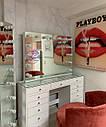 """Гримерный стол для визажиста с витриной на столешнице """" Кристалл 5"""", цвет - белый, фото 4"""