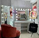 """Гримерный стол для визажиста с витриной на столешнице """" Кристалл 5"""", цвет - белый, фото 2"""