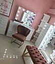 """Гримерный стол для визажиста с витриной на столешнице """" Кристалл 5"""", цвет - белый, фото 7"""