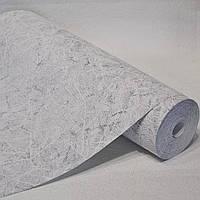 Текстурные виниловые обои на стену под мрамор серые пара 5723-10 0,53*15м для коридора, кухни, прихожей