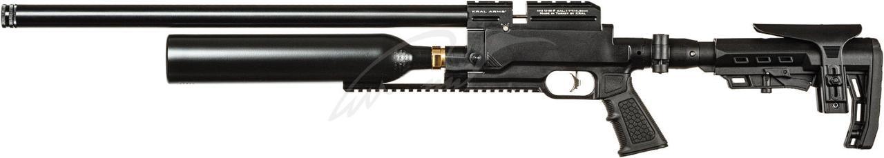 Пневматическая винтовка PCP Kral Jambo Dazzle Synthetic 4.5мм 20.5 Дж с кейсом черный