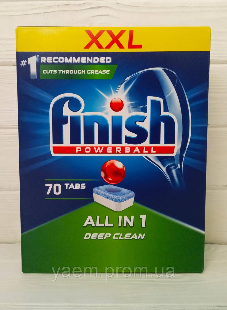 Таблетки для посудомоечной машины Finish Powerball All in1 Deep Clean 70 шт. (Польша)