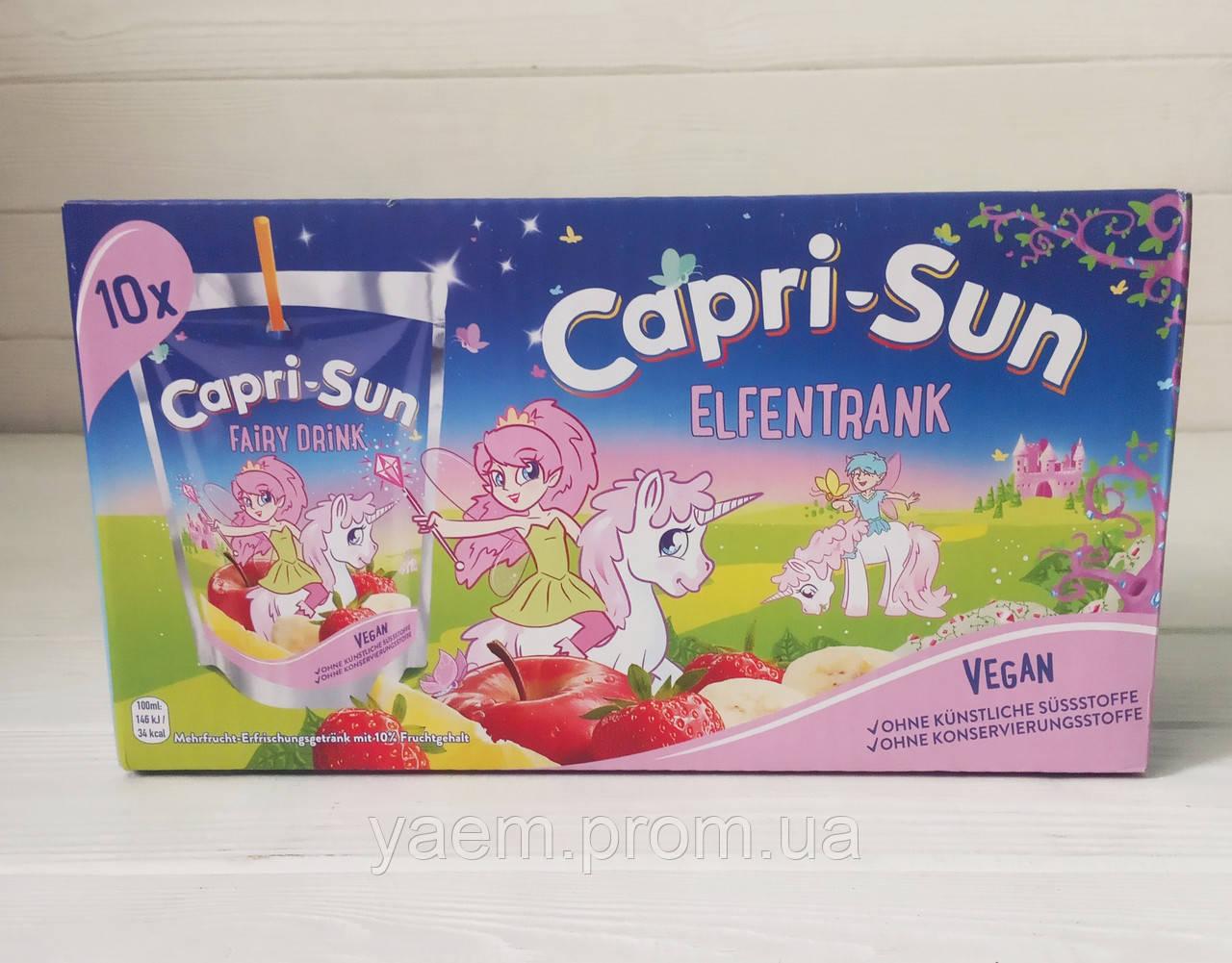 Сок с трубочкой Capri-Sun Fairy Drink (коробка 10шт*200ml) (Германия)