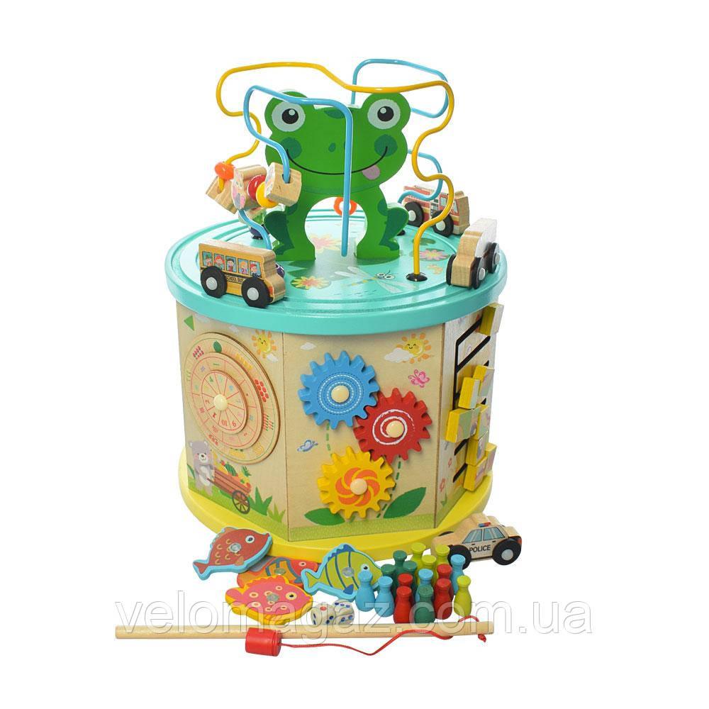 Розвиваючий центр-іграшка, MD 2064, дерев'яний сортер з риболовлею!
