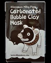 Тестер Маска Для Обличчя Глиняно-Бульбашкова Elizavecca Milky Piggy Carbonated Bubble Clay Mask, 3мл