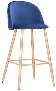 Барный стул Bellini бук/blue velvet TM AMF
