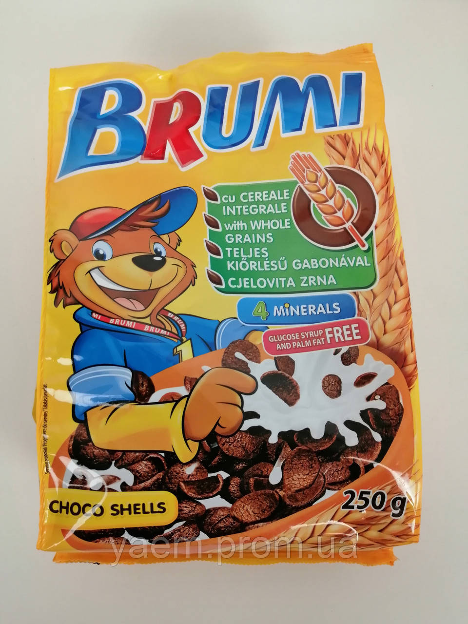 Шоколадные хлопья Brumi Choco Shells, 250г (Польша)