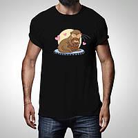 """Качественнаямужская футболка с принтом """"Морские котики"""", push it Украина"""