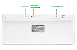 Беспроводная Bluetooth клавиатура компьютерная android iOS keyboard BK3001White, фото 4