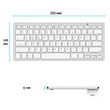 Беспроводная Bluetooth клавиатура компьютерная android iOS keyboard BK3001White, фото 3
