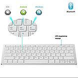 Беспроводная Bluetooth клавиатура компьютерная android iOS keyboard BK3001White, фото 5