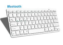 Беспроводная Bluetooth клавиатура компьютерная android iOS keyboard BK3001White