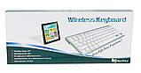 Беспроводная Bluetooth клавиатура компьютерная android iOS keyboard BK3001White, фото 7