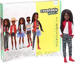 Кукла Creatable World Создаваемый мир, черные плетеные волосы