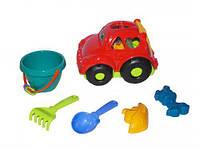 Сортер-машина  Автошка  №3 (красная) с большим песочным набором