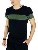 Футболка Intruder Color Stripe L Черный с хаки 1589369589  2, КОД: 1701672