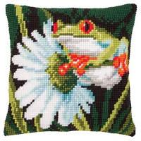 Набор для вышивки подушки Vervaco PN-0145755 Красноглазая жаба
