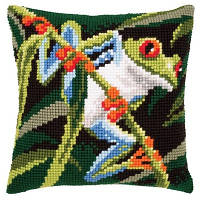 Набор для вышивки подушки Vervaсo PN-0145157 Красноглазая древесная лягушка
