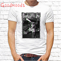 """Крутая футболка футболка мужская с принтомSwag """"Кот с папиросой"""""""
