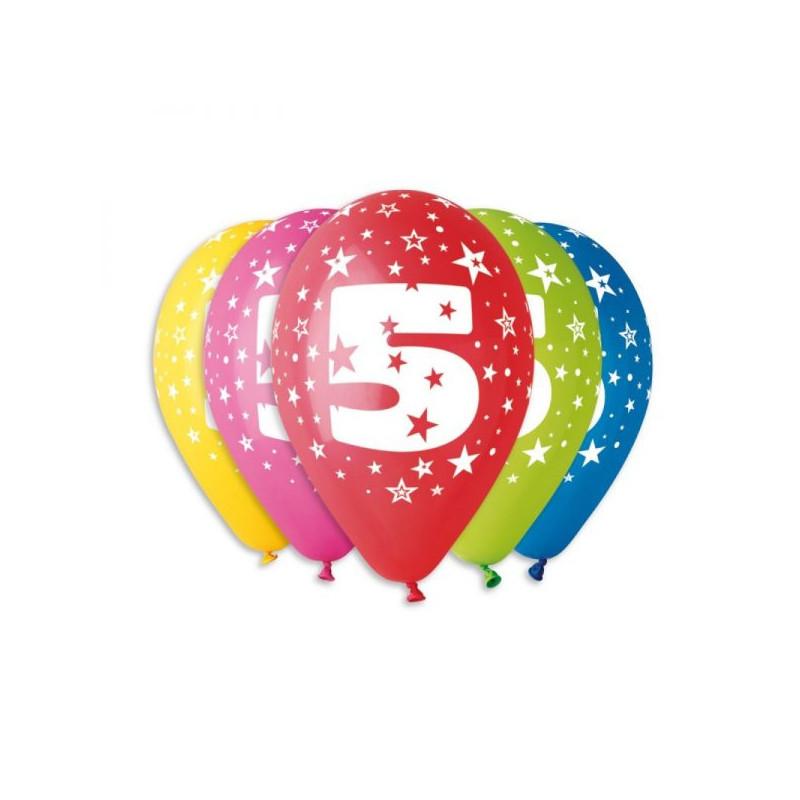 """Латексные шары круглые с рисунком №5 12""""30см"""