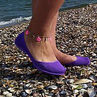 Женские силиконовые балетки, аквашузы, коралки, Фиолетовый
