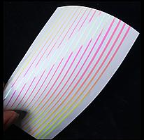 Гибкие 3D полоски розовые для ногтей (маникюра) №19