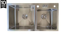 Кухонна мийка Arta U-700D 750*430*230 сталь 1.2 мм ТМ Galati