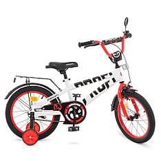Велосипед детский PROF1 18д. T18172 Flash, бело-красный