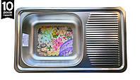 Кухонная мойка Galati Amina 750*440*180 Textura сталь 0.8 мм, фото 1