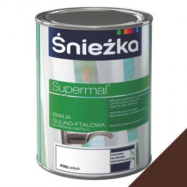 Фарба Sniezka Supermal олійно-фталева коричнева 8016 0,8л