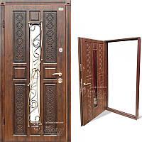 Дверь входная металлическая ABWEHR, 178 Emilia Ковка, Vinorit, Prestige, Kale, Дуб темн. Патина, 850x2050, лев