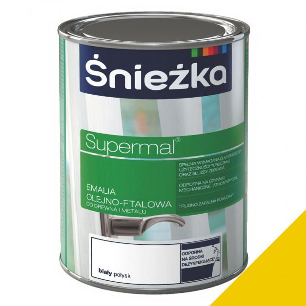 Фарба Sniezka Supermal олійно-фталева жовта 0,8л (0,9кг)