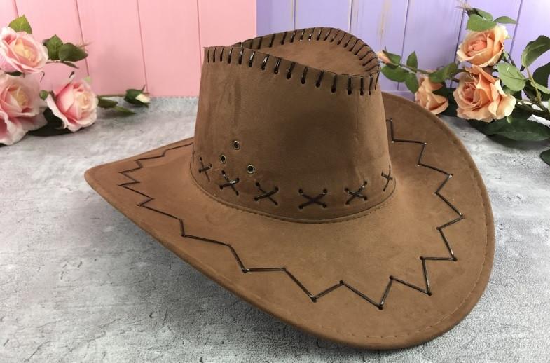 Ковбойская шляпа замшевая  H21-2-1, Н16-8, H21-2-2