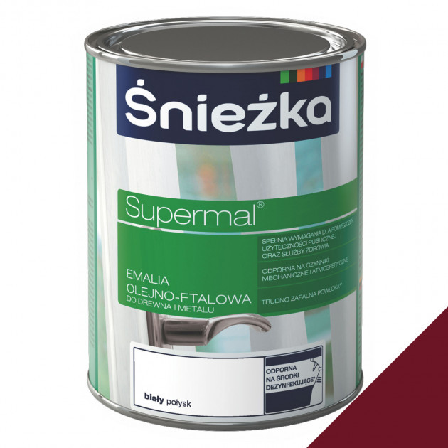 Фарба Sniezka Supermal олійно-фталева вишнева 0,8л