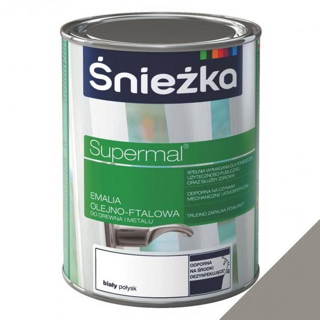 Фарба Sniezka Supermal олійно-фталева попеляста 0,8л (0,9кг)
