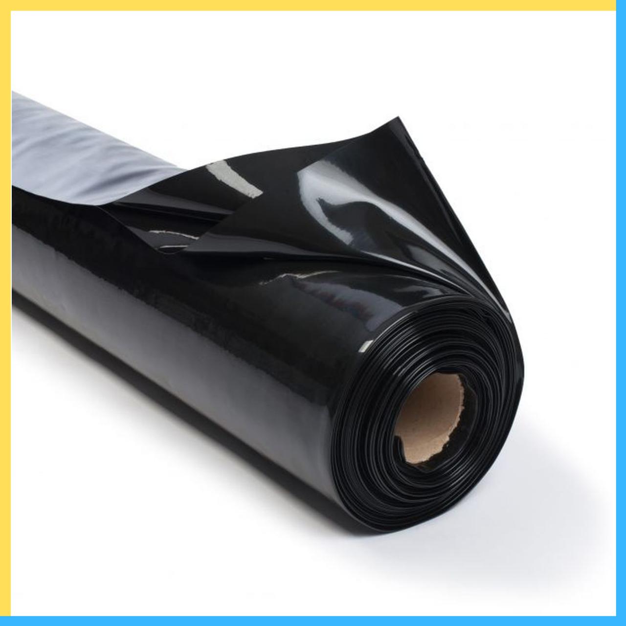 Пленка черная 200 мкм 3*100 м (для мульчирования и строительства)