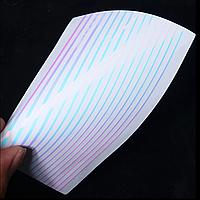 Гибкие 3D полоски фиолетовые для ногтей (маникюра) №20