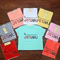 Укороченная футболка топ с надписями  - В РАСЦВЕТКАХ ! ОПТОМ!, фото 1