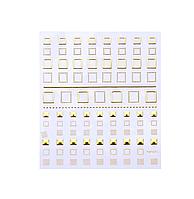 Гибкая 3D наклейка для ногтей (маникюра) №1 золото