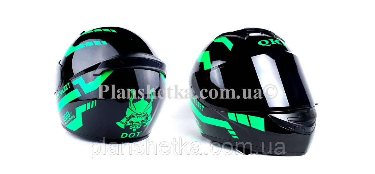 Шлем для мотоциклов Hel-Met 111 зеленый черный ( тонированное стекло)