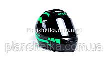 Шлем для мотоциклов Hel-Met 111 зеленый черный ( тонированное стекло), фото 2