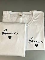 Любовные парные футболки . Парные футболки для двоих . Футболки с принтом на заказ
