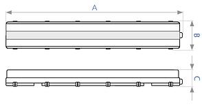 Светодиодный промышленный светильник DELUX LED PC7 (1*1200мм) без ламп, фото 3